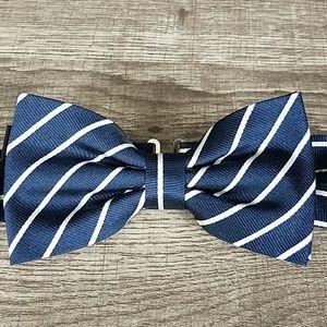 3 for $10- H&M silk navy stripe bow tie